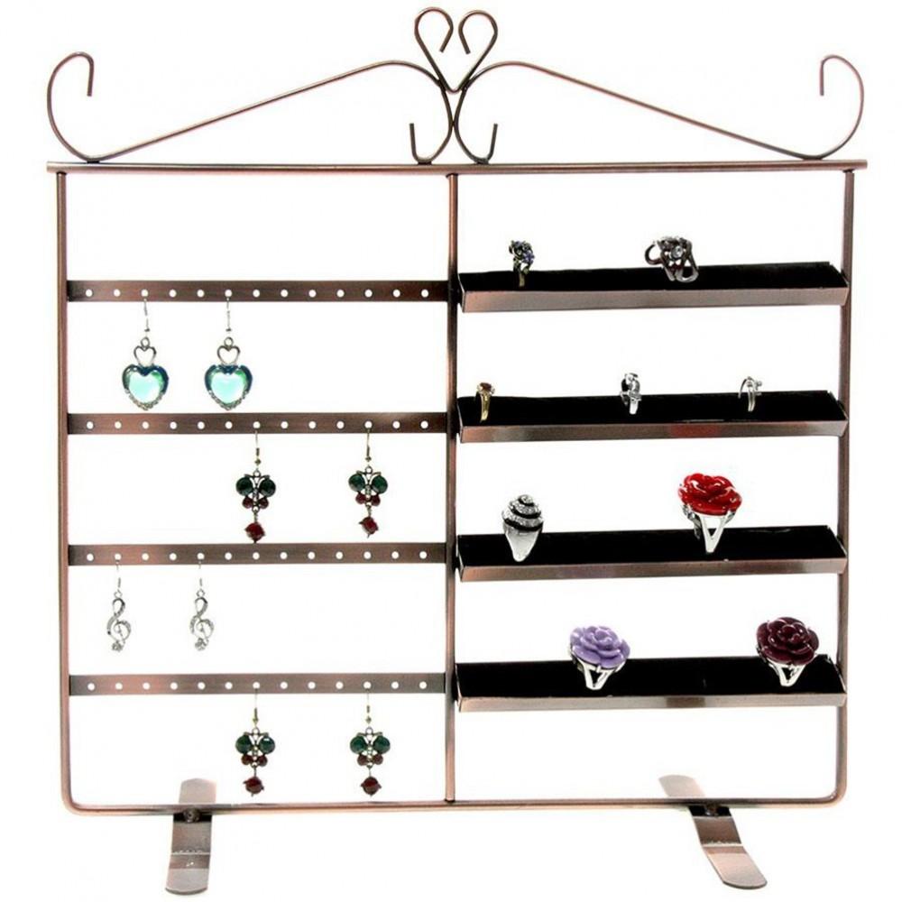 Cadre porte bijoux duo pour 40 bagues et 26 paires boucles - Presentoir pour boucle d oreille ...