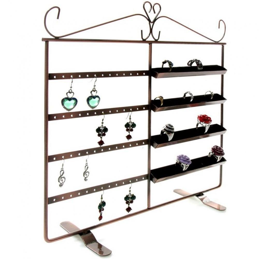 cadre porte bijoux duo pour 40 bagues et 26 paires boucles. Black Bedroom Furniture Sets. Home Design Ideas
