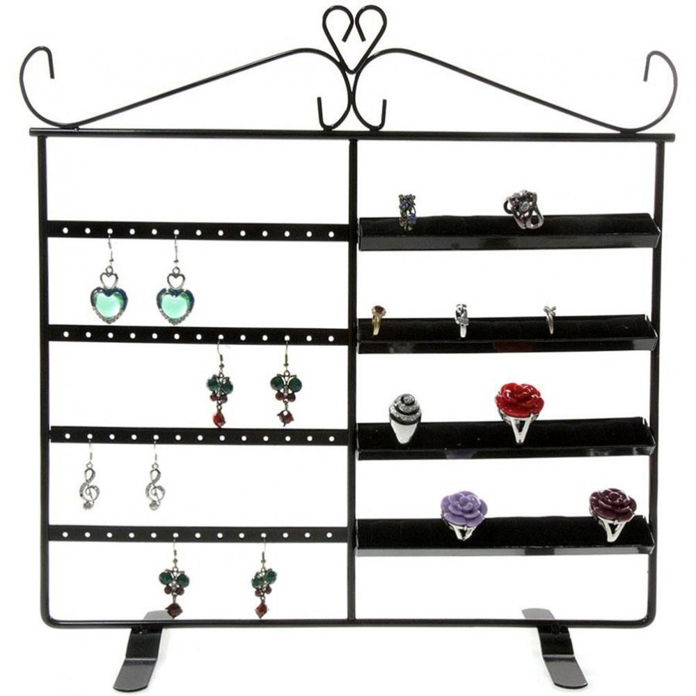 Cadre porte bijoux duo pour 40 bagues et 26 paires boucles - Porte bijoux boucle d oreille ...