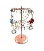 Porte bijoux et accessoires manège réglable à 40 crochets - Cuivre