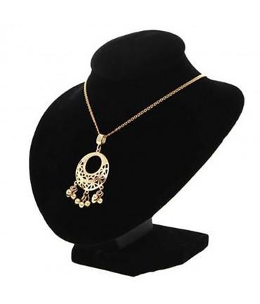 Buste porte collier en velours 16 cm