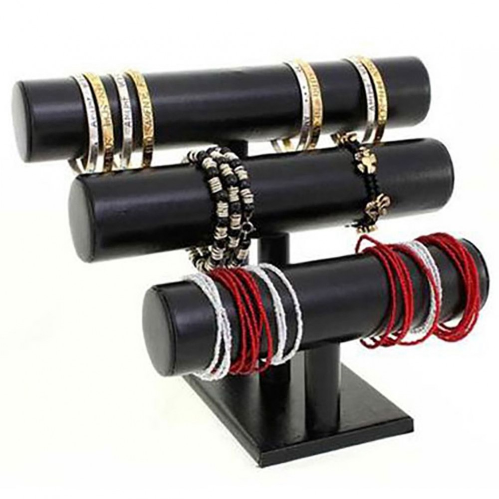 porte bijoux support bracelet et montre 3 joncs en simili. Black Bedroom Furniture Sets. Home Design Ideas