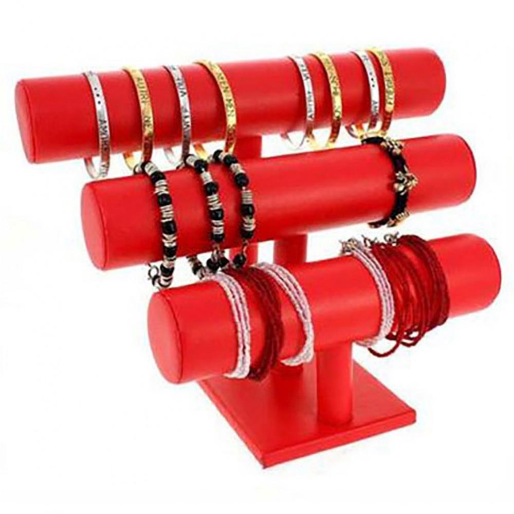 presentoir bracelet et montre 3 joncs en simili cuir. Black Bedroom Furniture Sets. Home Design Ideas