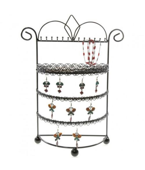Porte bijoux mixte Boudoir à plateau et crochets