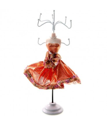 Porte bijoux poupée mannequin Années 50 - Rouge