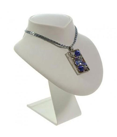 Buste porte collier en simili cuir 11 cm