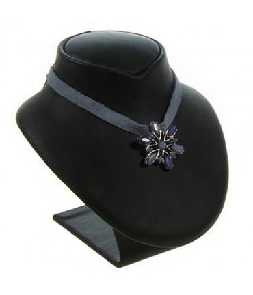 Buste porte collier en simili cuir 9 cm