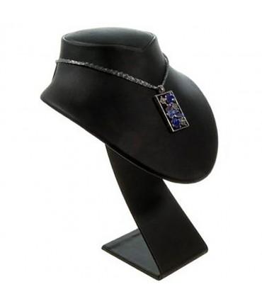 Buste porte collier en simili cuir 14 cm