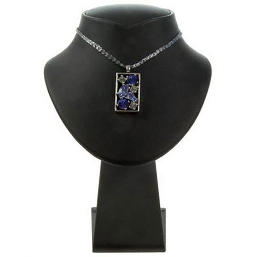 Mini buste presentoir collier 14cm support bijouterie - Porte bijoux buste ...