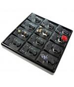 Presentoir bague plateau bijoux Ice cube (12 bagues) - Noir