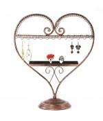 Presentoir pour bijoux Cœur mixte boucle d'oreille et bagues - Cuivre