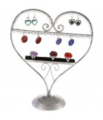 Presentoir pour bijoux Cœur mixte boucle d'oreille et bagues