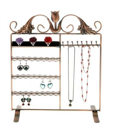 Porte bijoux cadre mixte Tulipe pour collier bague boucles - Cuivre