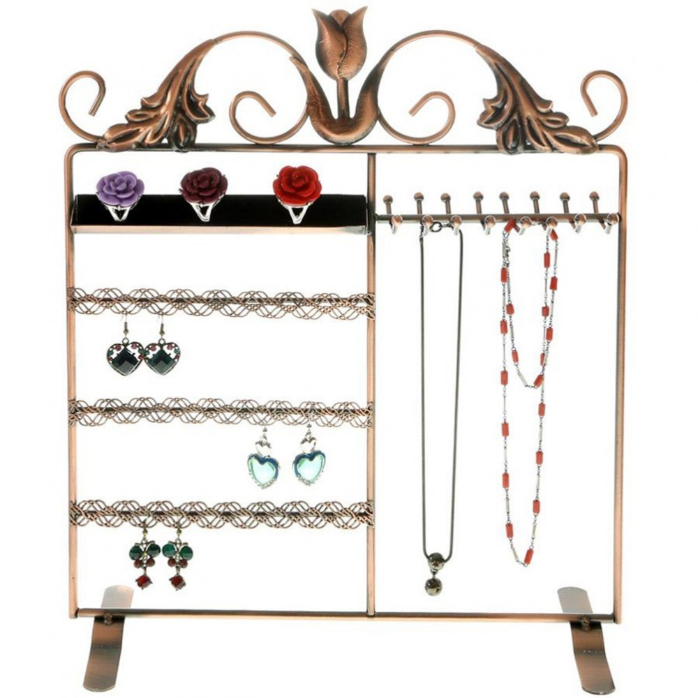 porte bijoux cadre mixte tulipe pour collier bague boucles. Black Bedroom Furniture Sets. Home Design Ideas