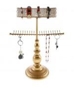 Porte bijoux Queen pour collier bracelet et accessoires - Doré