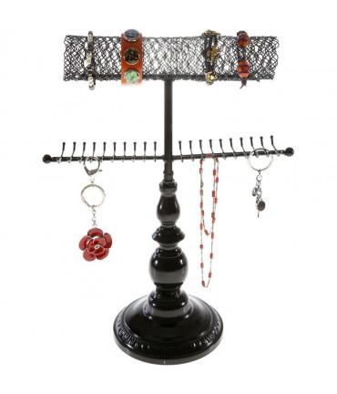 Porte bijoux Queen pour collier bracelet et accessoires - Noir