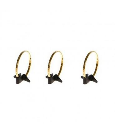 Mini plot support bracelet jonc Bird simili cuir (1 pièce) - Noir