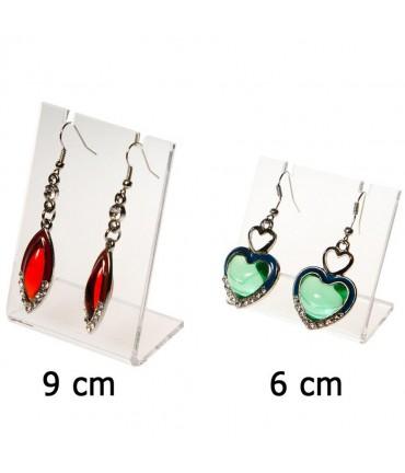 Mini support boucle d'oreille Petit Panneau (1 paire) H 6 cm