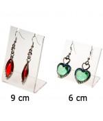 Mini support boucle d'oreille Petit Panneau (1 paire) H 6 cm - Transparent