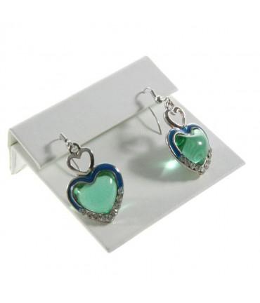 Presentoir boucles d'oreilles pour bijoutier (1 paire) - Blanc