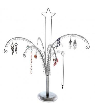 Arbre à boucle d'oreille et bijoux New star 1 (90 paires) - Gris patiné