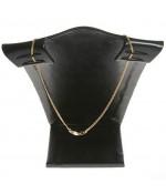 Buste porte collier et chaine en simili cuir 12 cm