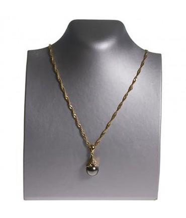 Presentoir pour collier buste droit de 18 cm