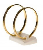 Mini plot support pour bracelet jonc Trapèze (2 bracelets) - Ivoire