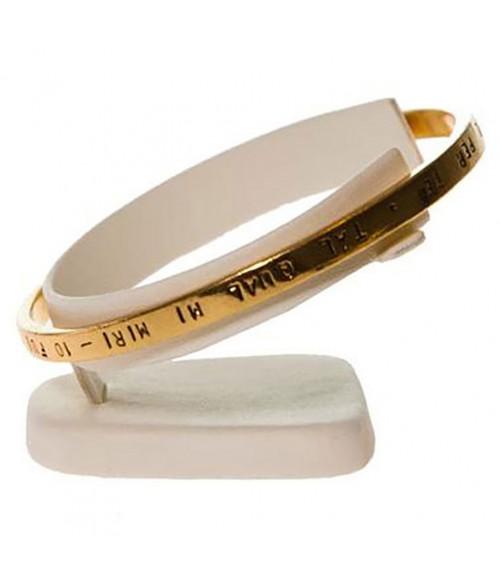 Mini support bracelet jonc ou montre plot Ring en simili cuir