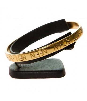 Mini support bracelet jonc ou montre plot Ring en simili cuir - Noir