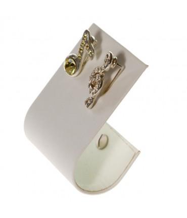 Support boucle d'oreille J pour bijoutier (1 paire) H 10 cm - Blanc