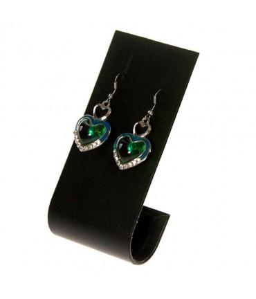 Support boucle d'oreille J pour bijoutier (1 paire) H 10 cm - Noir