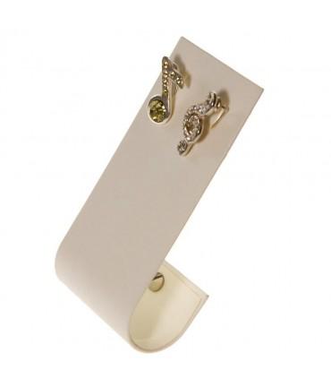 Support boucle d'oreille J pour bijoutier (1 paire) H 9 cm - Ivoire