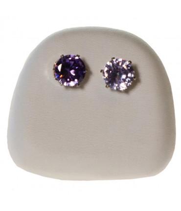 Présentoir pour boucles d'oreilles en simili cuir (1 paire)