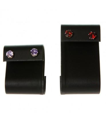 Support boucle d'oreille S pour bijouterie (1 paire) H 6 cm - Noir