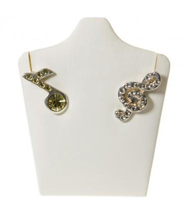 """Mini buste porte bijoux collier ou boucles d""""oreilles 9 cm - Blanc"""