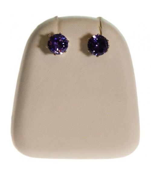 Mini support boucles d'oreilles simili cuir (1 paire) H 4 cm