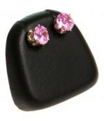 Mini support boucles d'oreilles simili cuir (1 paire) H 5,5 cm - Noir