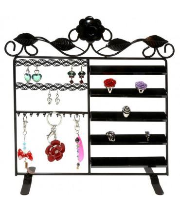 Porte bijoux cadre mixte Lorraine pour bracelet bague boucle - Noir