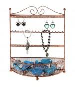 Porte bijoux cadre mixte Corbeille avec panier. - Cuivre