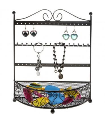 Porte bijoux cadre mixte Corbeille avec panier. - Noir