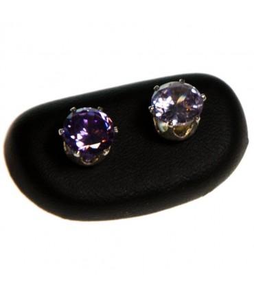 Mini presentoir boucles d'oreilles Galet (1 paire) - Noir