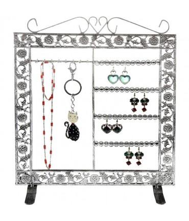 Porte bijoux Cadre mixte collier boucle bracelet accessoire - Gris patiné