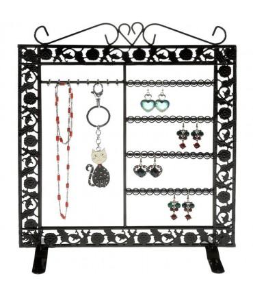 Porte bijoux Cadre mixte collier boucle bracelet accessoire - Noir