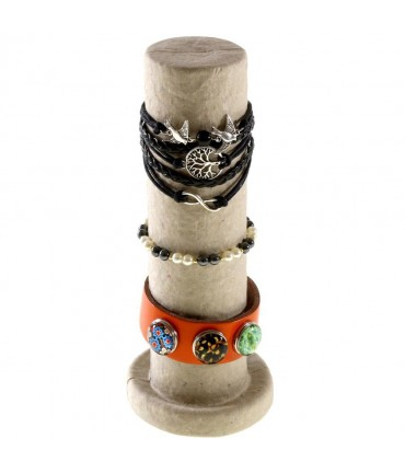 Support bracelet colonne de présentation en papier mâché