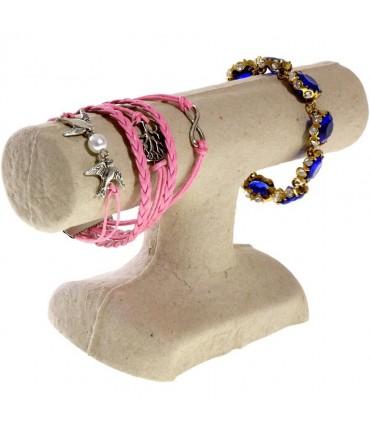 Support bracelet 1 jonc en papier mâché - Beige