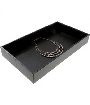 Plateau bijoux presentoir boucle d'oreille bracelet collier - Noir