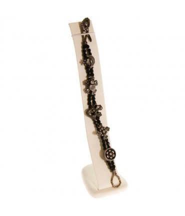 Support bracelet Toboggan Vertical large en simili cuir - Beige