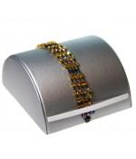 Presentoir bracelet Demi Lune large en simili cuir