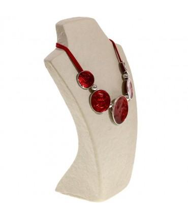 Buste porte collier en papier mâché 27 cm